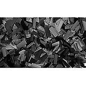 ShowtecConfettis Rectangle 55 x 17mm Noirs