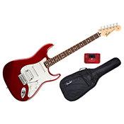 FenderStandard Stratocaster HSS Candy Apple Red Rosewood Bundle
