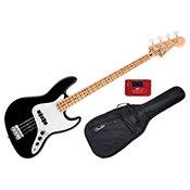 FenderStandard Jazz Bass Black Maple Bundle