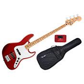 FenderStandard Jazz Bass Candy Apple Red Maple Bundle