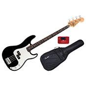 FenderStandard Precision Bass Black Rosewood Bundle