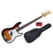 FenderStandard Precision Bass Brown Sunburst Rosewood Bundle