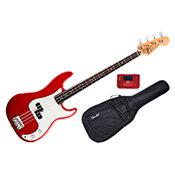 FenderStandard Precision Bass Candy Apple Red Rosewood Bundle
