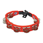 Latin PercussionCyclops Jingle Tambourine Steel Jingles Red Mountable LP161