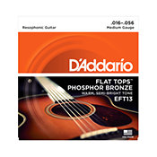 D'Addario EFT13 Flat Tops Medium 16-56