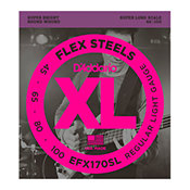 D'Addario EFX170SL FlexSteels Bass Light 45-100 Super Long Scale