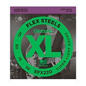 D'Addario EFX220 FlexSteels Bass Super Light 40-95 Long Scale