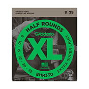 D'Addario EHR330 Half Rounds Extra-Super Light 8-39