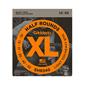 D'Addario EHR340 Half Rounds Light Top/Heavy Bottom 10-52