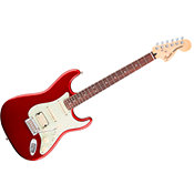 FenderDeluxe Stratocaster PF HSS Candy Apple Red