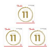 FenderSet de 3 jeux 80/20 Bronze Acoustic Strings  11-52