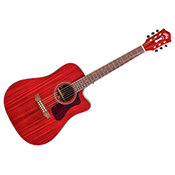 GuildWesterly D-120CE Cherry Red + housse