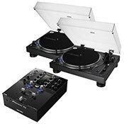 Audio TechnicaAT-LP140XP-BK (La paire) + Pioneer DJM S3