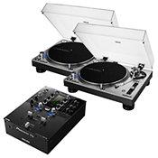 Audio TechnicaAT-LP140XP-SV (La paire) + Pioneer DJM S3