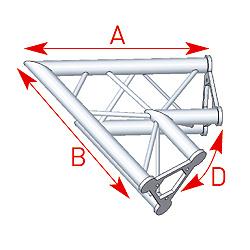 57ASD21 / Angle 2 départs 60°  lg 0m80 x 0m80