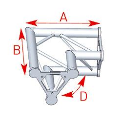57ASD22 / Angle 2 départs 90°  lg 0m40 x 0m40