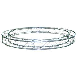 57SZC25200 / Cercle section structure alu carrée 250 Diamètre 2m00 extérieur
