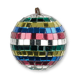 Boule à facettes multicolore 5 cm