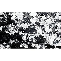 Confettis Metal Argent Carrés