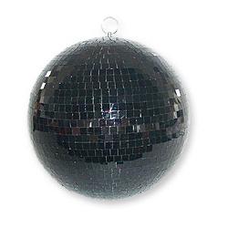 MB012BL Boule à facettes noire 30cm