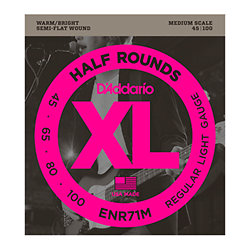 ENR71M Half Rounds Bass Regular Light 45-100 Medium Scale