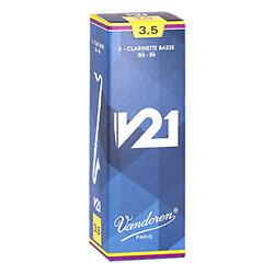 Vandoren CR8035 S/érie V21 force 3,5 Bo/îte de 10 Anches pour Clarinette SIB Bleu