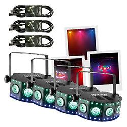 Pack 4 FX ARRAY Q5 + 3 câbles DMX