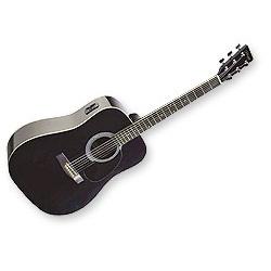stagg sw201bk-vt guitare electro-acoustique dreadnought noir