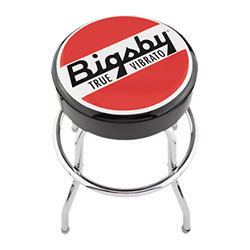 Bigsby Round Logo Barstool Red and White 24