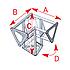 57ASD153 / Angle 3 départs 90° pied lg 0m25 x 0m25
