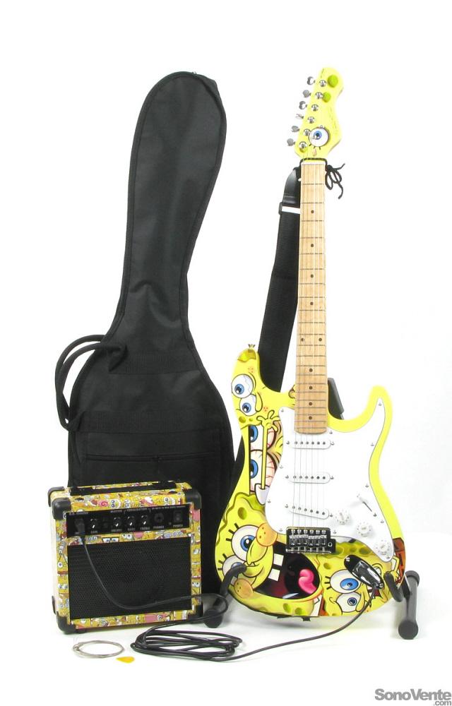 guitare electrique bob l'eponge